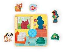 Puzzle pre najmenších - Drevené puzzle pre najmenších House's Friends Janod 5 dielov od 18 mes_0