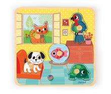 Puzzle pre najmenších - Drevené puzzle pre najmenších House's Friends Janod 5 dielov od 18 mes_1