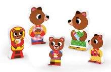 Puzzle pre najmenších - Drevené puzzle pre najmenších Medvede v kuchyni Chunky Janod 5 dielov od 18 mes_2