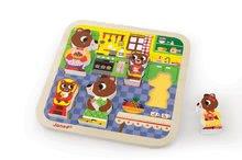 Puzzle pre najmenších - Drevené puzzle pre najmenších Medvede v kuchyni Chunky Janod 5 dielov od 18 mes_3