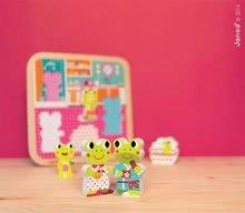 Puzzle pre najmenších - Drevené puzzle pre najmenších Žabky v kúpeľni Janod 5 dielov od 18 mes_5