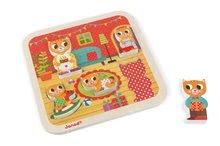 Puzzle pre najmenších - Drevené puzzle pre najmneších Mačičky v izbe Chunky Janod 5 dielov od 18 mes_0