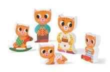 Puzzle pre najmenších - Drevené puzzle pre najmneších Mačičky v izbe Chunky Janod 5 dielov od 18 mes_2