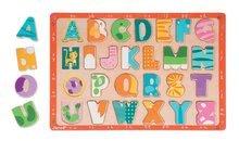 Drevené puzzle Kitten ABC Janod s veľkou abecedou od 2 rokov 26 dielov