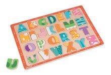 Puzzle pre najmenších - Drevené puzzle Kitten ABC Janod s veľkou abecedou 26 dielov od 24 mes_0