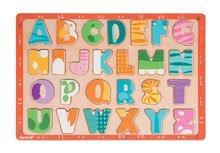 Puzzle pre najmenších - Drevené puzzle Kitten ABC Janod s veľkou abecedou 26 dielov od 24 mes_1