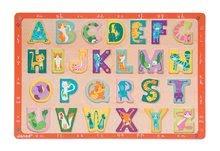 Puzzle pre najmenších - Drevené puzzle Kitten ABC Janod s veľkou abecedou 26 dielov od 24 mes_2