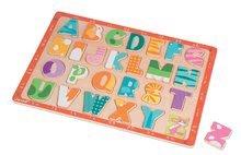 Puzzle pre najmenších - Drevené puzzle Kitten ABC Janod s veľkou abecedou 26 dielov od 24 mes_3