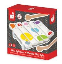 Detské hudobné nástroje - Drevený xylofón Confetti Mini Xylo Janod od 12 mes_0