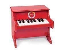 Drevený klavír Confetti Red Piano Janod s realistickým zvukom od 3-8 rokov