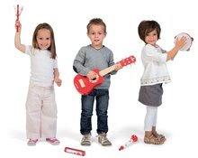 Detské hudobné nástroje - Sada 5 drevených hudobných nástrojov Confetti Music Live Janod gitara, harmonika, trúbka, tamburína a kastanety od 3 rokov_0