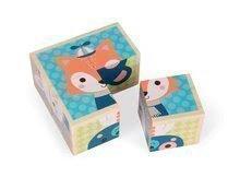 Rozprávkové kocky - Drevené kocky Lesné zvieratká Baby Forest Janod rozprávkové 4 ks od 12 mes_0