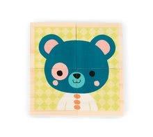 Rozprávkové kocky - Drevené kocky Lesné zvieratká Baby Forest Janod rozprávkové 4 ks od 12 mes_2