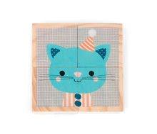 Rozprávkové kocky - Drevené kocky Lesné zvieratká Baby Forest Janod rozprávkové 4 ks od 12 mes_5