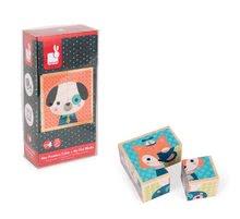 Rozprávkové kocky - Drevené kocky Lesné zvieratká Baby Forest Janod rozprávkové 4 ks od 12 mes_7