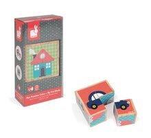 Rozprávkové kocky - Drevené kocky Prvé slová Baby Forest Janod rozprávkové 4 ks od 12 mes_0