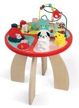 Fa készségfejlesztő asztal gyerekeknek Baby Forest Janod funkciókkal 12 hó kortól