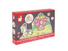 Puzzle pre najmenších - Drevené magnetické puzzle Princezné Vertical Janod 8 dielov od 18 mes_6