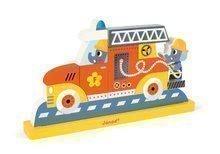 Dřevěné magnetické puzzle Hasičské auto Vertical Janod od 18 měsíců 8 dílů