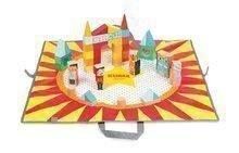 Dřevěné kostky na podložce Cirkus Kubix Janod - 60 různých kostek v různých tvarech od 2 let