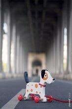 Ťahacie hračky - Drevený pes Rocky Janod na ťahanie s taškou od 12 mes_1