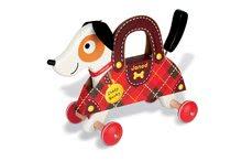 Ťahacie hračky - Drevený pes Rocky Janod na ťahanie s taškou od 12 mes_0