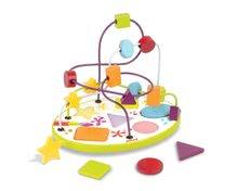 Drevený labyrint a puzzle Formy & farby Janod od 12 mes