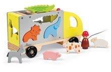 Nákladné autá - Drevený kamión Multi Animo Maxi Truck Janod na ťahanie so zvieratkami od 24 mes_0