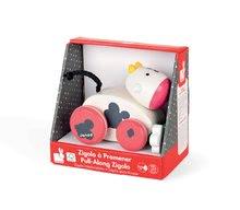Ťahacie hračky - Drevená kravička Pull Along Janod na ťahanie so zvukom od 12 mes_1