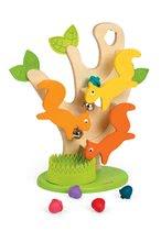 Dřevěný strom Janod s veverkami a zvukem od 12 měsíců