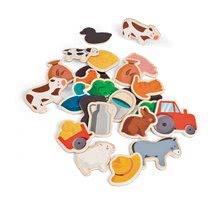 Magnetky pre deti - Drevené magnetky Farm Magnets Janod od 24 mes_0