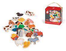 Magnetky pre deti - Drevené magnetky Farm Magnets Janod od 24 mes_2