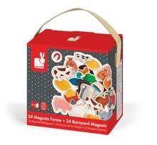 Magnetky pre deti - Drevené magnetky Farm Magnets Janod od 24 mes_3