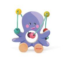 Ťahacie hračky - Drevená chobotnica Janod na ťahanie s labyrintom od 12 mes_0