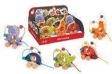 Ťahacie hračky - Drevená sliepočka Janod na ťahanie s labyrintom od 12 mes_2