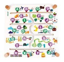 Cudzojazyčné spoločenské hry - Spoločenská hra Labyrinth Alphabet Game Janod angličtina-francúzština od 4 rokov_0