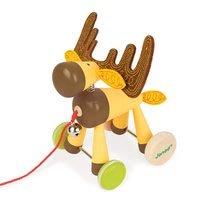 Ťahacie hračky - Drevený Sob Zigolos Janod na kolieskach so zvončekom od 12 mes_0