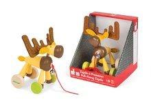 Ťahacie hračky - Drevený Sob Zigolos Janod na kolieskach so zvončekom od 12 mes_1