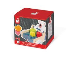 Ťahacie hračky - Drevený ťahací vozík Medveď Janod s vkladacími kockami od 12 mes_3