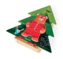 Puzzle pre najmenších - Drevené puzzle Medveď v pyžame Zigolos Janod 18 dielov od 24 mes_0