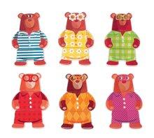 Puzzle pre najmenších - Drevené puzzle Medveď v pyžame Zigolos Janod 18 dielov od 24 mes_1