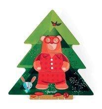 Puzzle pre najmenších - Drevené puzzle Medveď v pyžame Zigolos Janod 18 dielov od 24 mes_2