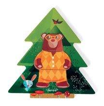 Puzzle pre najmenších - Drevené puzzle Medveď v pyžame Zigolos Janod 18 dielov od 24 mes_3