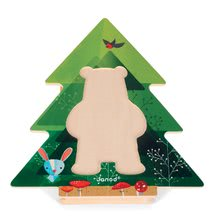 Puzzle pre najmenších - Drevené puzzle Medveď v pyžame Zigolos Janod 18 dielov od 24 mes_4