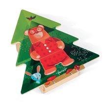 Puzzle pre najmenších - Drevené puzzle Medveď v pyžame Zigolos Janod 18 dielov od 24 mes_5