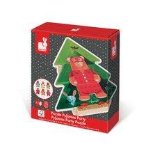Puzzle pre najmenších - Drevené puzzle Medveď v pyžame Zigolos Janod 18 dielov od 24 mes_7