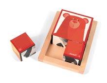 Rozprávkové kocky - Drevené kocky Lesné zvieratká Zigolos Janod v krabičke 6 kusov_2