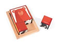 Rozprávkové kocky - Drevené kocky Lesné zvieratká Zigolos Janod v krabičke 6 kusov_4