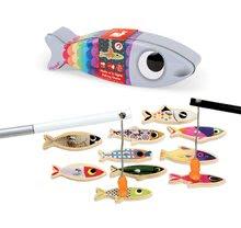 Drevená magnetická hra na rybára Sardine Janod s 10 rybičkami a 2 udicami od 2-5 rokov