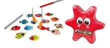 Drevená magnetická hra na rybára Starfish Janod so 14 rybičkami a 2 udicami od 2-5 rokov